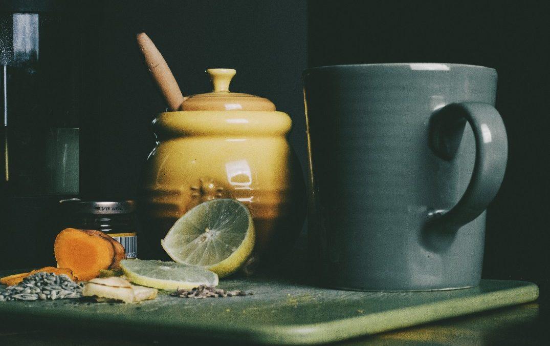 Jamu and Lemon Water Tonic